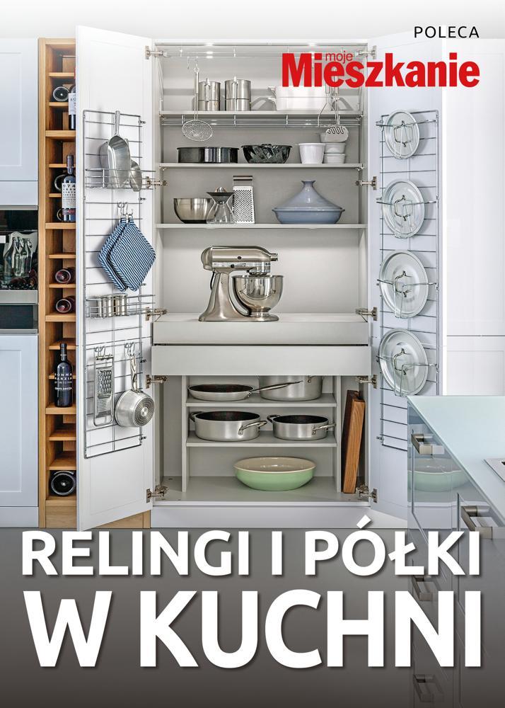 Relingi i półki w kuchni