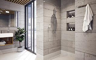 Prysznic bez brodzika i kabiny: jak zaaranżować natrysk walk-in?